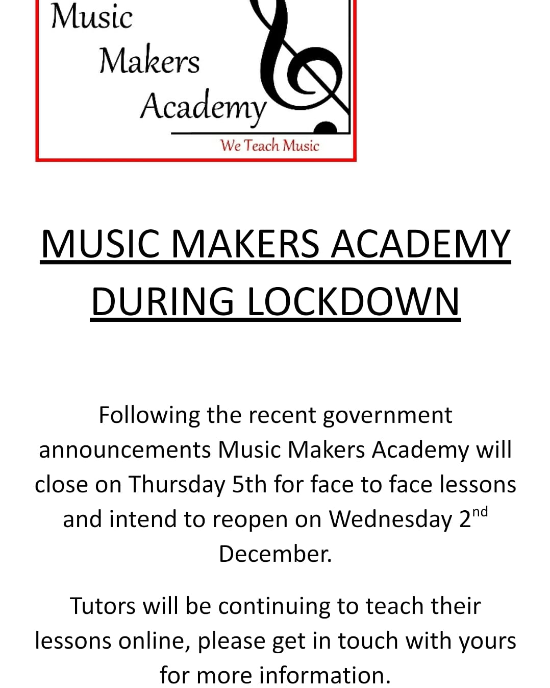 Music Makers Academy, Worle, Weston-super-Mare